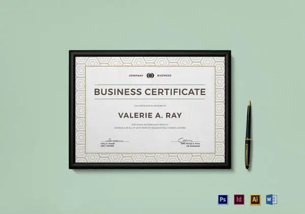 15+ Business Gift Certificate Templates \u2013 Free Sample, Example - business certificate templates