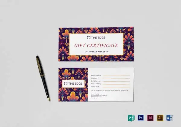 Homemade Gift Certificate Templates \u2013 9+ Free Word, PDF Documents