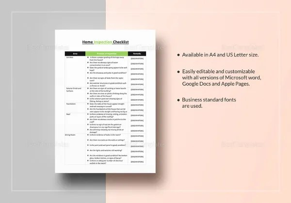 Checklist Template \u2013 38+ Free Word, Excel, PDF Documents Download