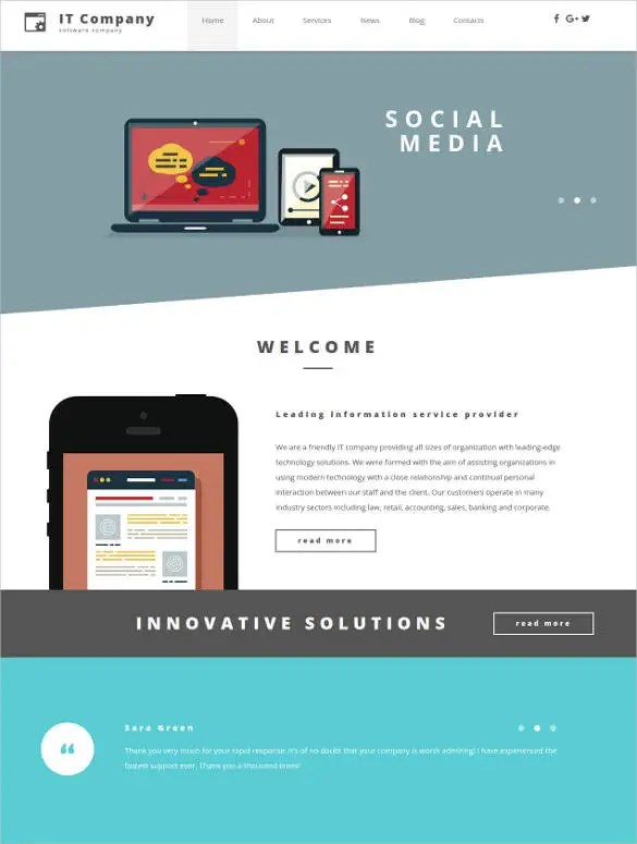 24+ Social Media Website Themes  Templates Free  Premium Templates
