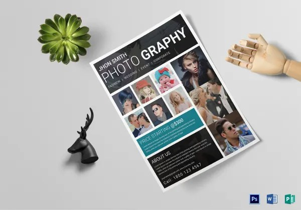 Photography Flyer Template - 28+ Free PSD Format Download! Free - Photography Flyer
