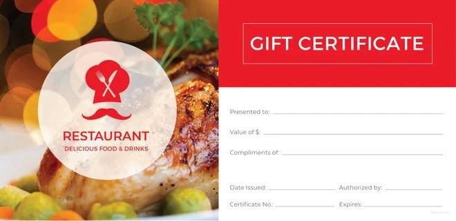20+ Restaurant Gift Certificate Templates \u2013 Free Sample, Example