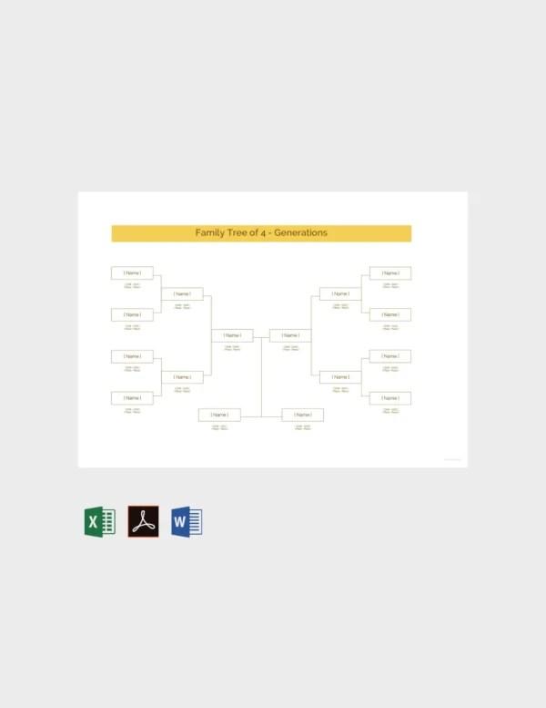 Generation Kinship Diagram Microsoft Word - Wiring Diagram Schematics