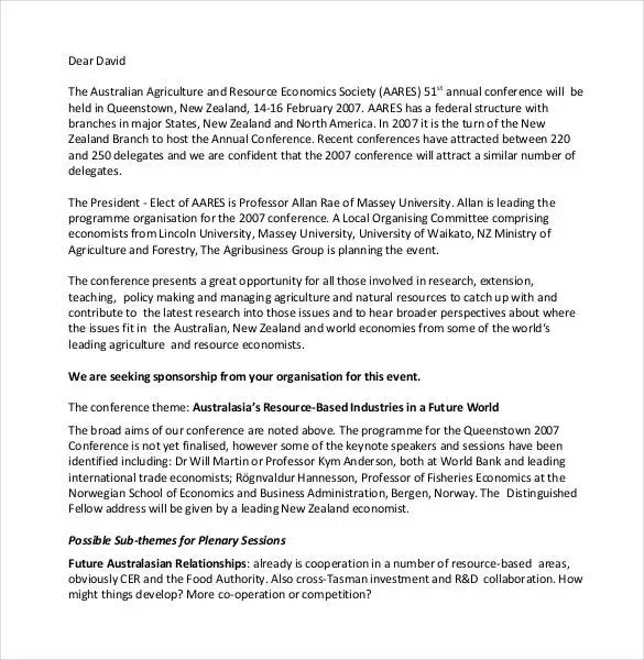 45+ Sponsorship Letter Templates - PDF, DOC Free  Premium Templates - proposal letter for sponsorship sample for event