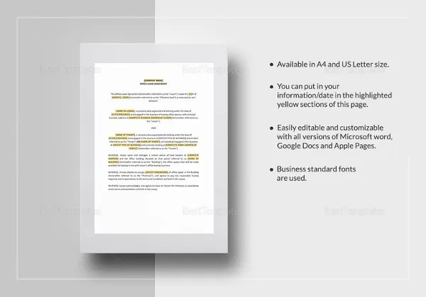 Printable Blank Lease Agreement Form - 15+ Free Word, PDF - blank lease agreement example