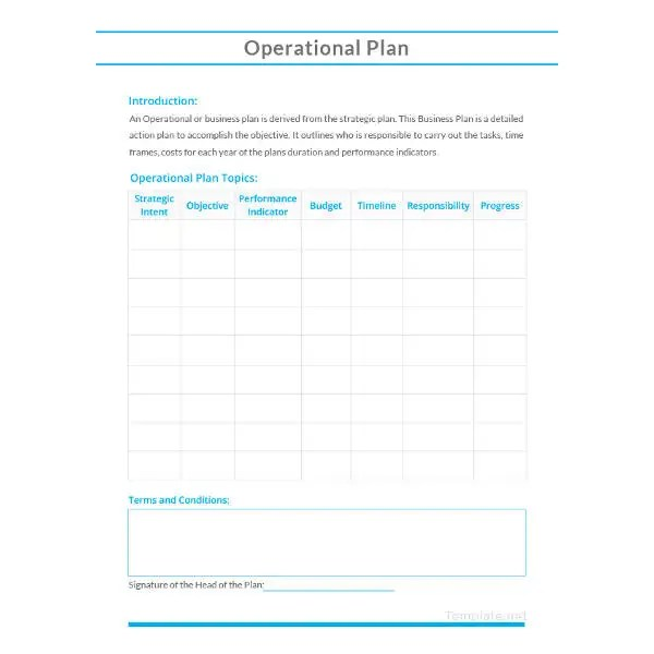 17+ Operational Plan Templates - PDF, DOC Free  Premium Templates