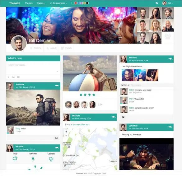 social network admin website template free download