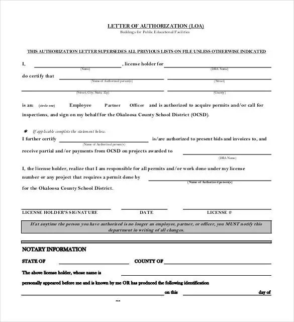 32+ Notarized Letter Templates - PDF, DOC Free  Premium Templates - letters of authorization