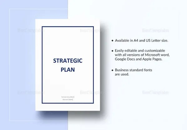 Strategic Plan Template - 16+ Free Word, PDF Documents Download