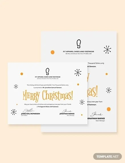 25+ Christmas Gift Certificate Templates - PSD, Pages, Word, AI
