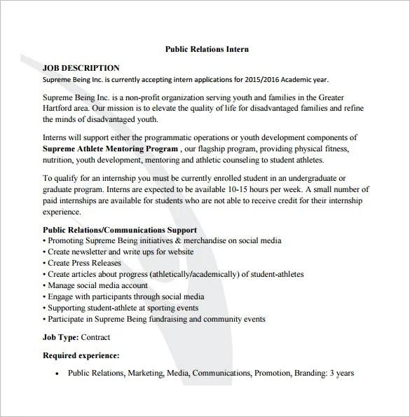 9+ Public Relation Job Description Templates - Free Sample, Example