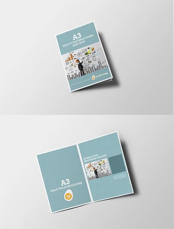 single fold brochure - Goalgoodwinmetals - gate fold brochure mockup