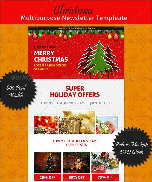 17+ Christmas Newsletter Templates \u2013 Free PSD, EPS, Ai, Word Format - Newsletter Format