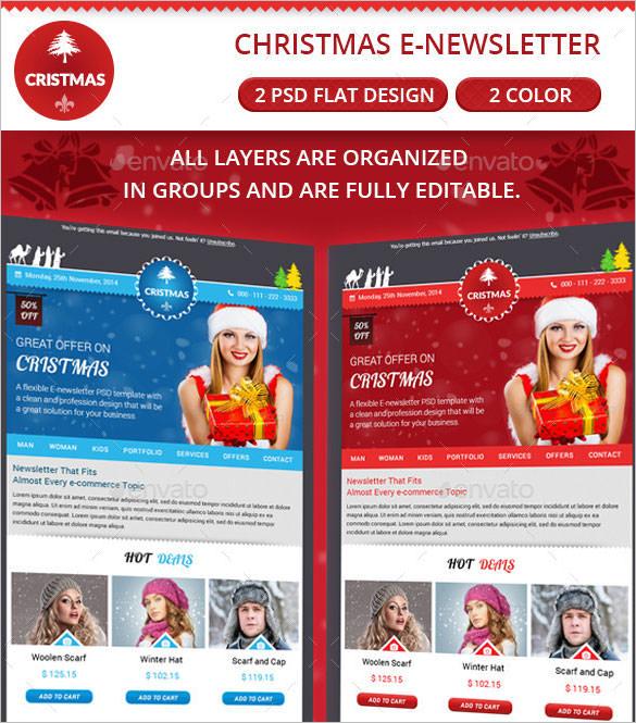 17+ Christmas Newsletter Templates \u2013 Free PSD, EPS, Ai, Word Format - email newsletter template word