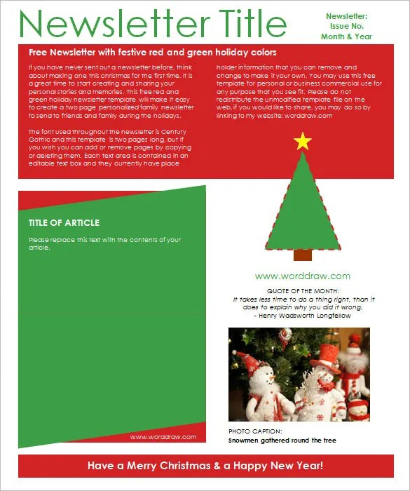 27+ Christmas Newsletter Templates - Free PSD, EPS, Ai, Word Free