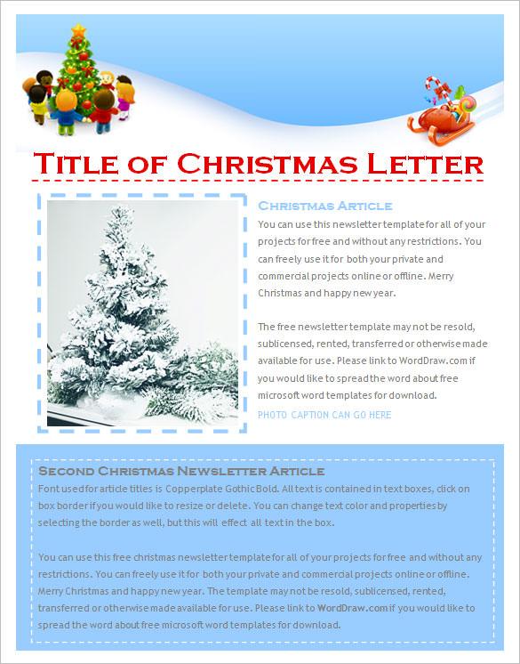 christmas newsletter template - Onwebioinnovate - free newsletter layout templates