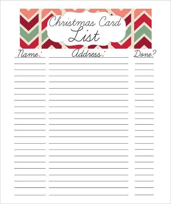 27+ Christmas Gift List Templates - Free Printable Word, PDF, JPEG - christmas gift card templates free
