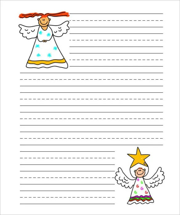 15+ Christmas Paper Templates - Free Word, PDF, JPEG Free - printable letter paper with lines