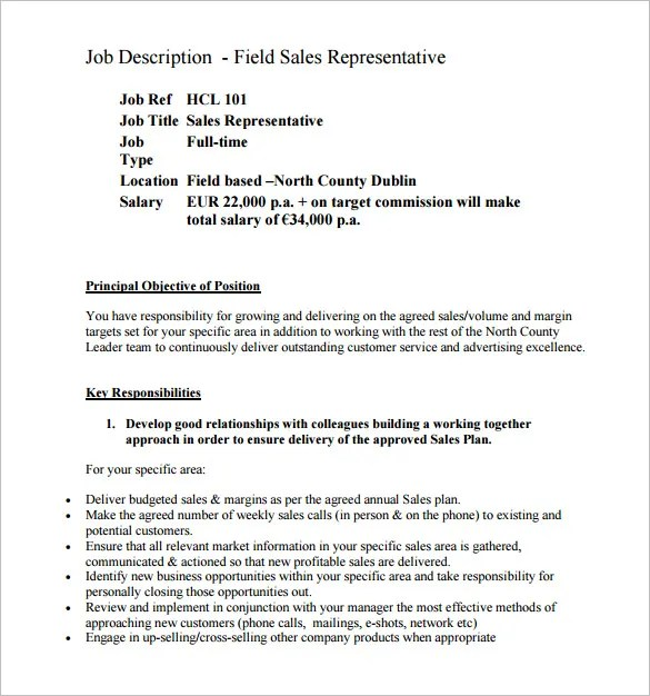 Job Descriptions For Resumes Sales Associate  Example Resumes Sales