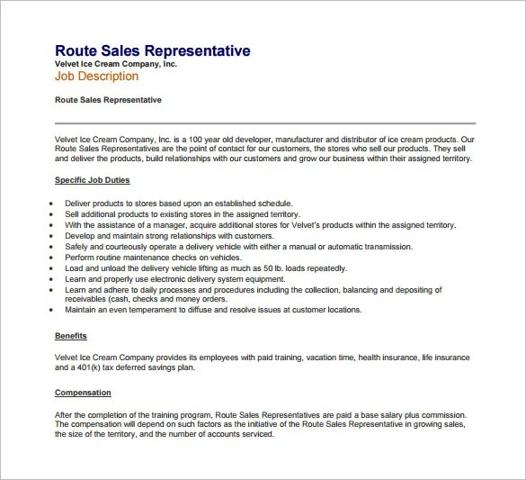 10+ Sample Sales Representative Job Description Templates - Free