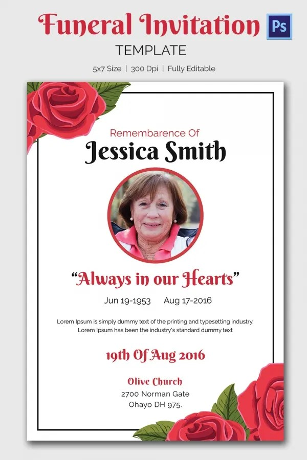 funeral invitation card - 28 images - 73 best printable funeral