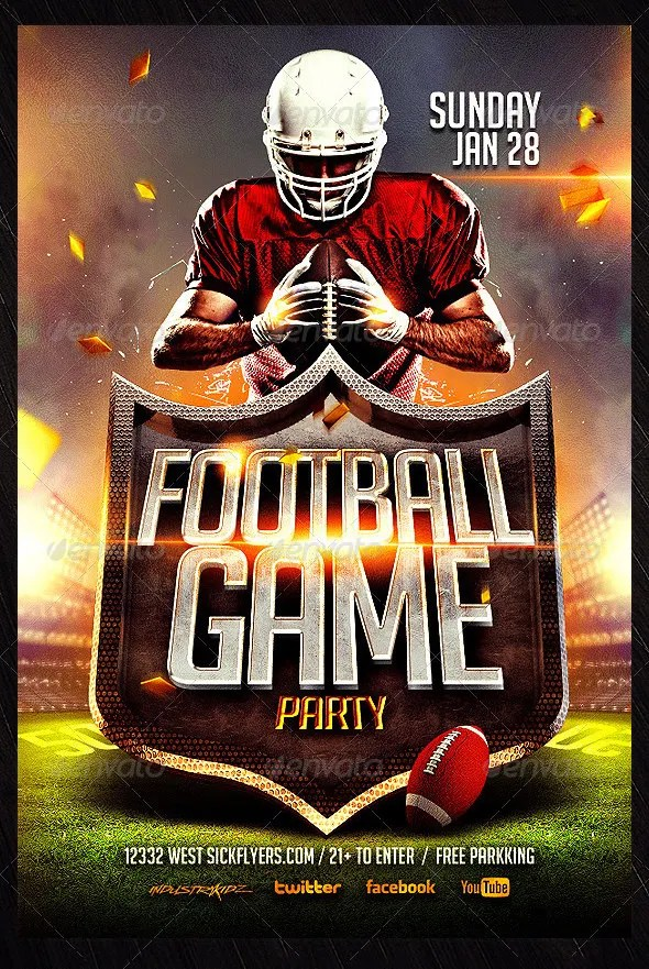 23+ Football Flyer Templates \u2013 Free PSD, EPS, AI, InDesign, Word