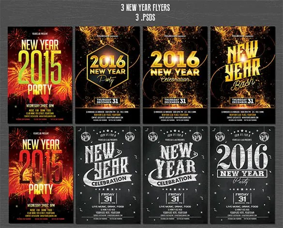 26+ New Year Flyer Templates \u2013 Free PSD, EPS, Indesign, Word Format