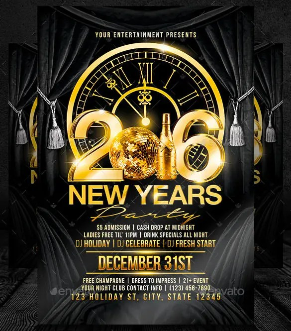 New Year Brochure Template New Year Free Psd Flyer Template