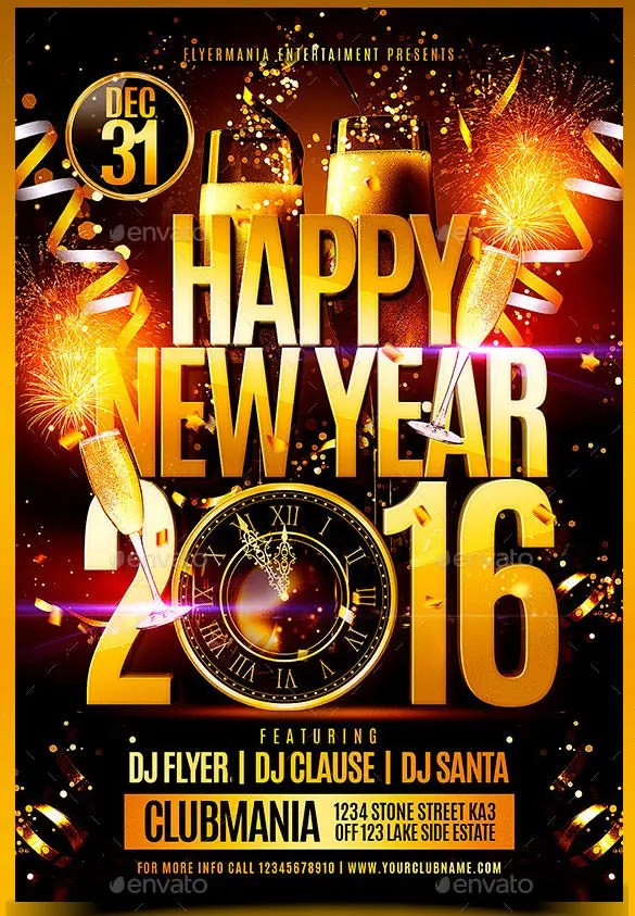 new years party flyers - Onwebioinnovate