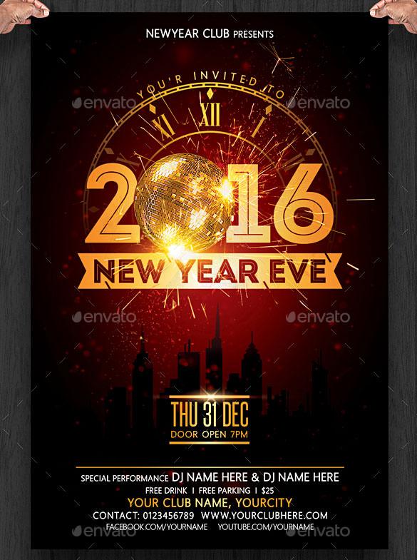 28+ New Year Invitation Templates u2013 Free Word, PDF, PSD, EPS - flyer invitation templates free