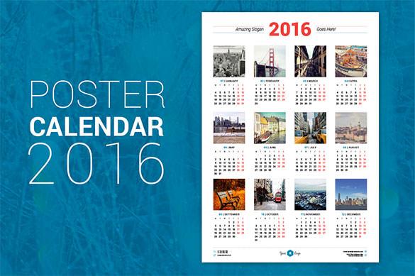 Vector Photoshop Psdafter Effects Tutorials Template 3d 2016 Calendar Template – 51 Free Word Pdf Psd Eps Ai
