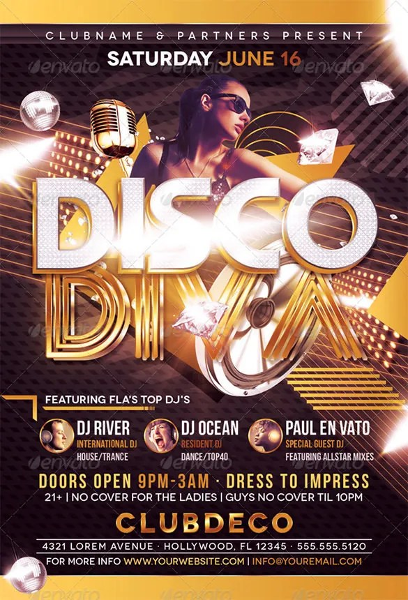 19+ Disco Flyer Templates - Word, PSD, EPS Vector Free  Premium