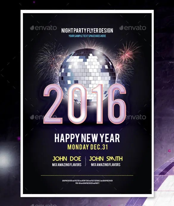 14+ New Year Poster Templates u2013 Free PSD, EPS, Ai, Illustrator - new year poster template