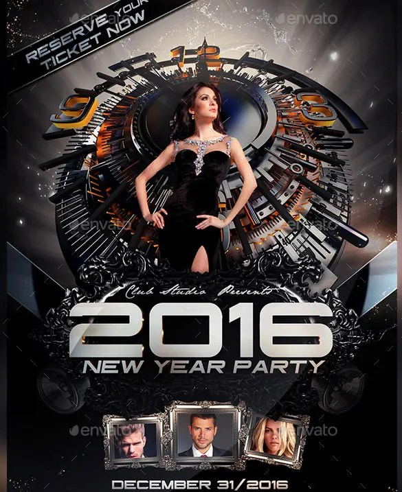 14+ New Year Poster Templates \u2013 Free PSD, EPS, Ai, Illustrator - new years party flyer