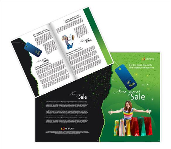 12+ New Year Brochure Templates \u2013 Free PSD, EPS, PDF, Word Format - sales brochure template