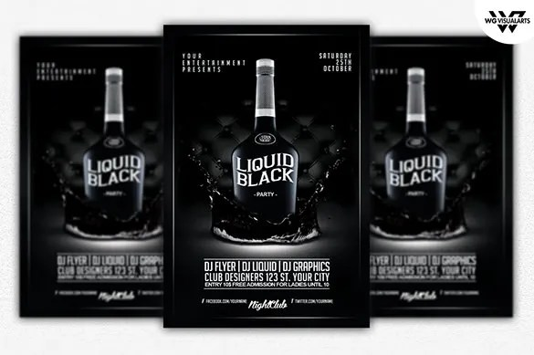 29+ Black / Dark Flyer Templates - Free PSD, EPS, AI, InDesign, Word - black flyer template