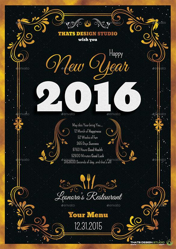 9+ New Year Menu Templates - PSD, EPS, Illustrator, PDF Free