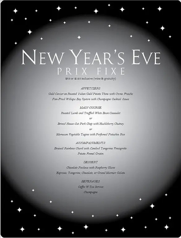 9+ New Year Menu Templates - PSD, EPS, Illustrator, PDF Free
