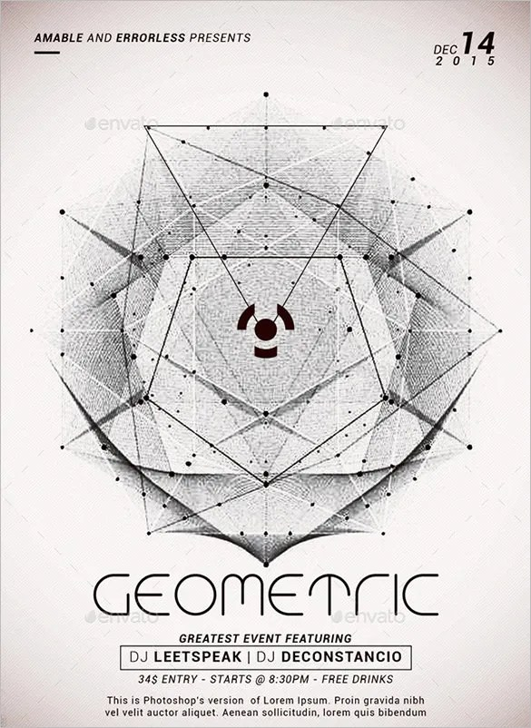 24+ Geometric Flyer Templates \u2013 Free PSD, EPS, AI, InDesign, Word