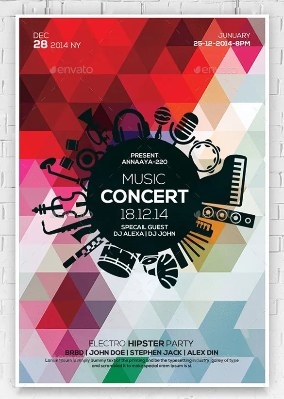 31+ Music Flyer Templates \u2013 Free PSD, EPS, AI, InDesign, Word, PDF