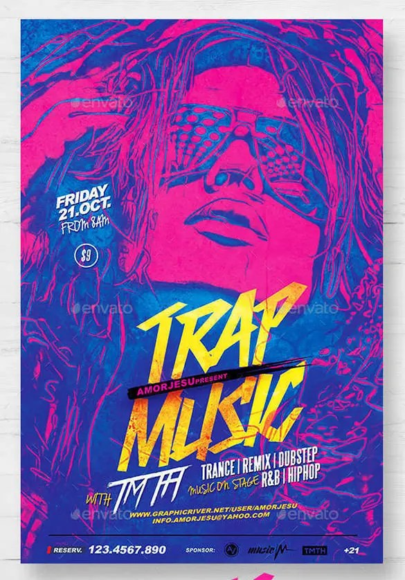 29+ Music Flyer Templates - Ms Word, Publisher, Apple Pages, PSD