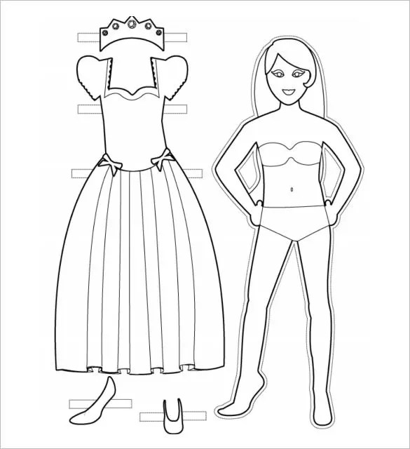 Exelent Paper Doll Template Pdf Sketch - Entry Level Resume ...