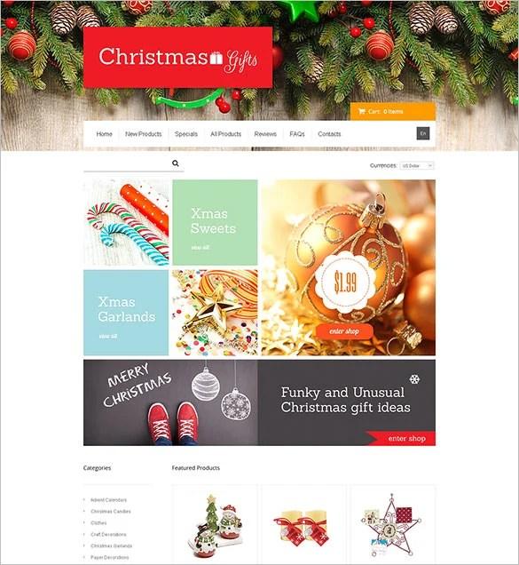 15+ Christmas Ecommerce Themes  Templates Free  Premium Templates - christmas themes images