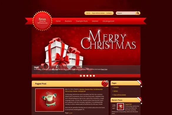 21+ Christmas Website Themes  Templates Free  Premium Templates