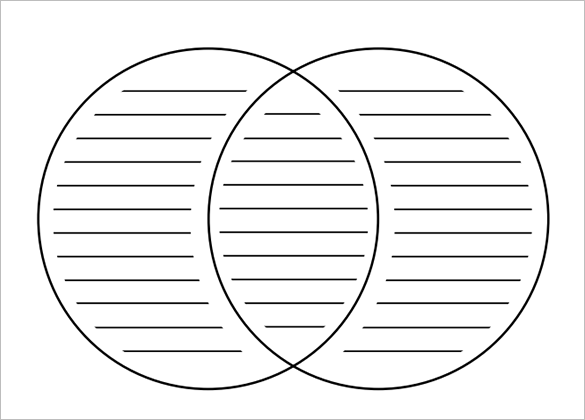 free printable venn diagram template with lines