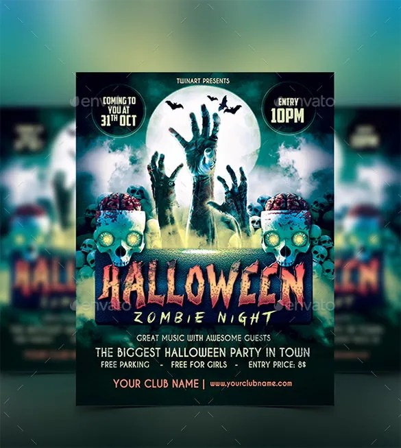 25+ Zombie Flyer Templates - Free PSD, EPS, AI, Format Download