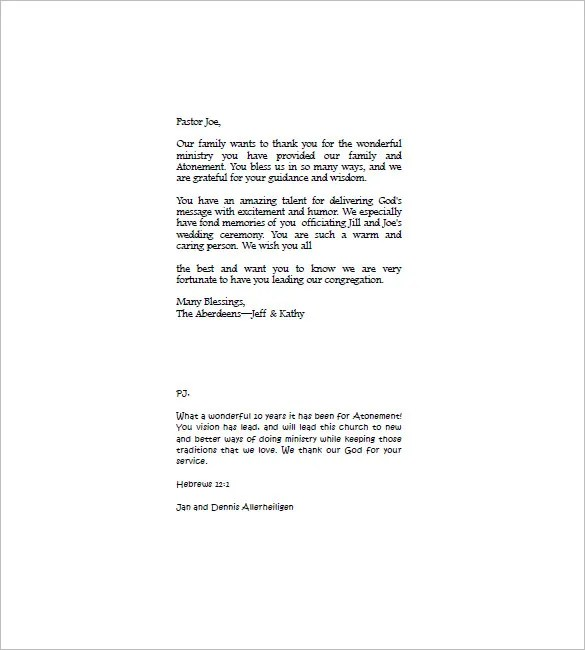 Funeral Thank You Note u2013 8+ Free Word, Excel, PDF Format Download - funeral thank you note