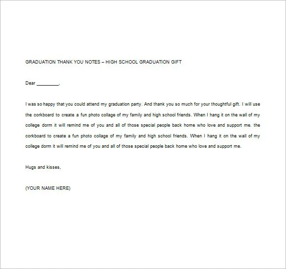 graduation thank you note - Ozilalmanoof - graduation thank you letter