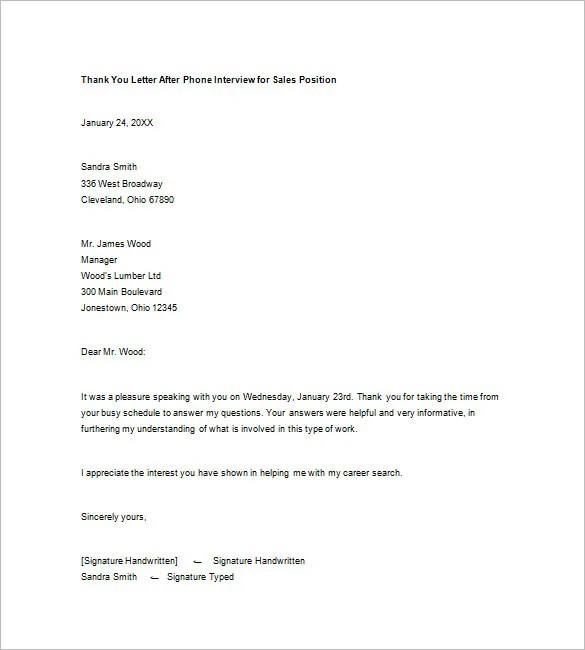 Job Interview Thank You Letter How To Write A Thank You Letter - writing post interview thank you letters