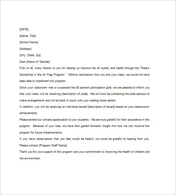 10+ Thank You Notes For Teachers \u2013 Free Sample, Example,Format